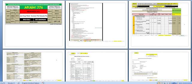 Download Gratis Aplikasi Excel ARKABOS Tahun 2016 Terbaru