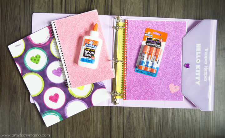 DIY Back to School Supply Ideas at artsyfartsymama.com