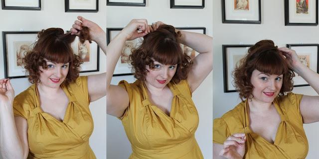 Va Voom Vintage 1960s style no-tease beehive tutorial