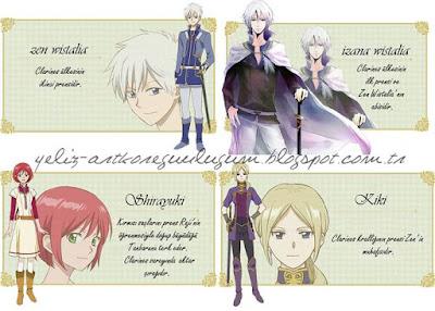karakterler akagami no shirayuki-hime