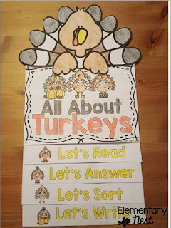 Turkey flip book- November Resources and two FREEBIES to use in November for primary classrooms- fall activities