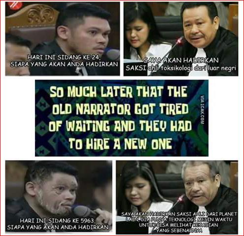 Menggelikan, Saking Lamanya Sidang Jessica Netizen Bikin Meme Kocak Seperti Ini