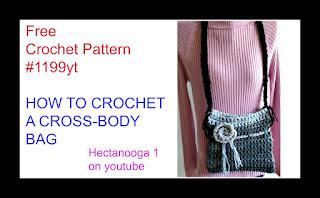 Free Crochet Pattern For Cross Body Bag : HECTANOOGA PATTERNS: FREE CROCHET PATTERN - CROSS-BODY BAG