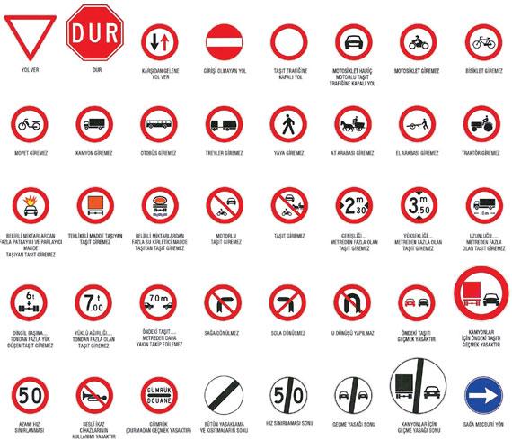 trafik işaret ve levhaları