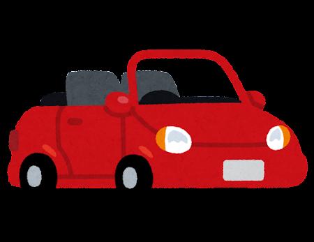 オープンカーのイラスト
