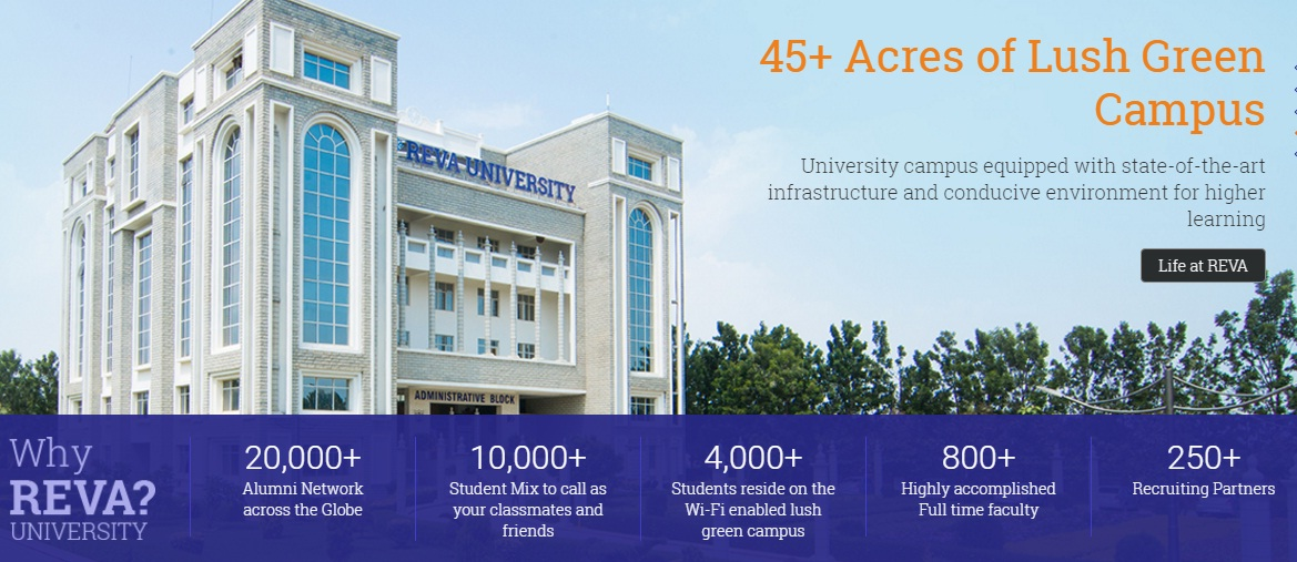 reva university bangalore b e b tech admission 2016