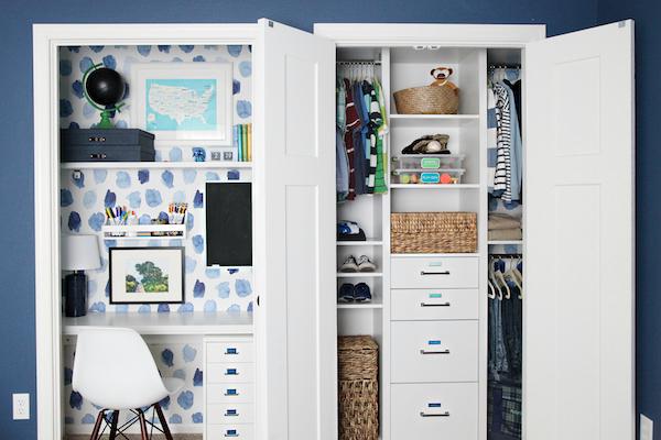 IHeart Organizing: Boy\'s Bedroom Update: Closet Doors and ...