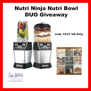 Enter the Nutri Ninja Nutri Bowl DUO Giveaway. Ends 12/21