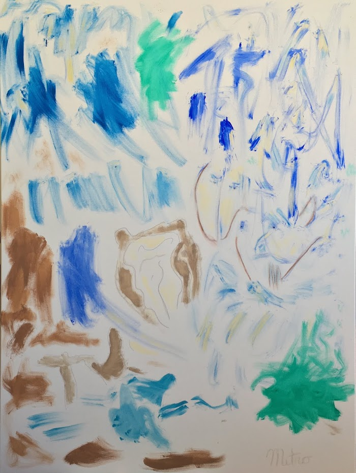 "From Macrocosm to Microcosm An Ode to de Kooning's Excavation  36"" by 48"""