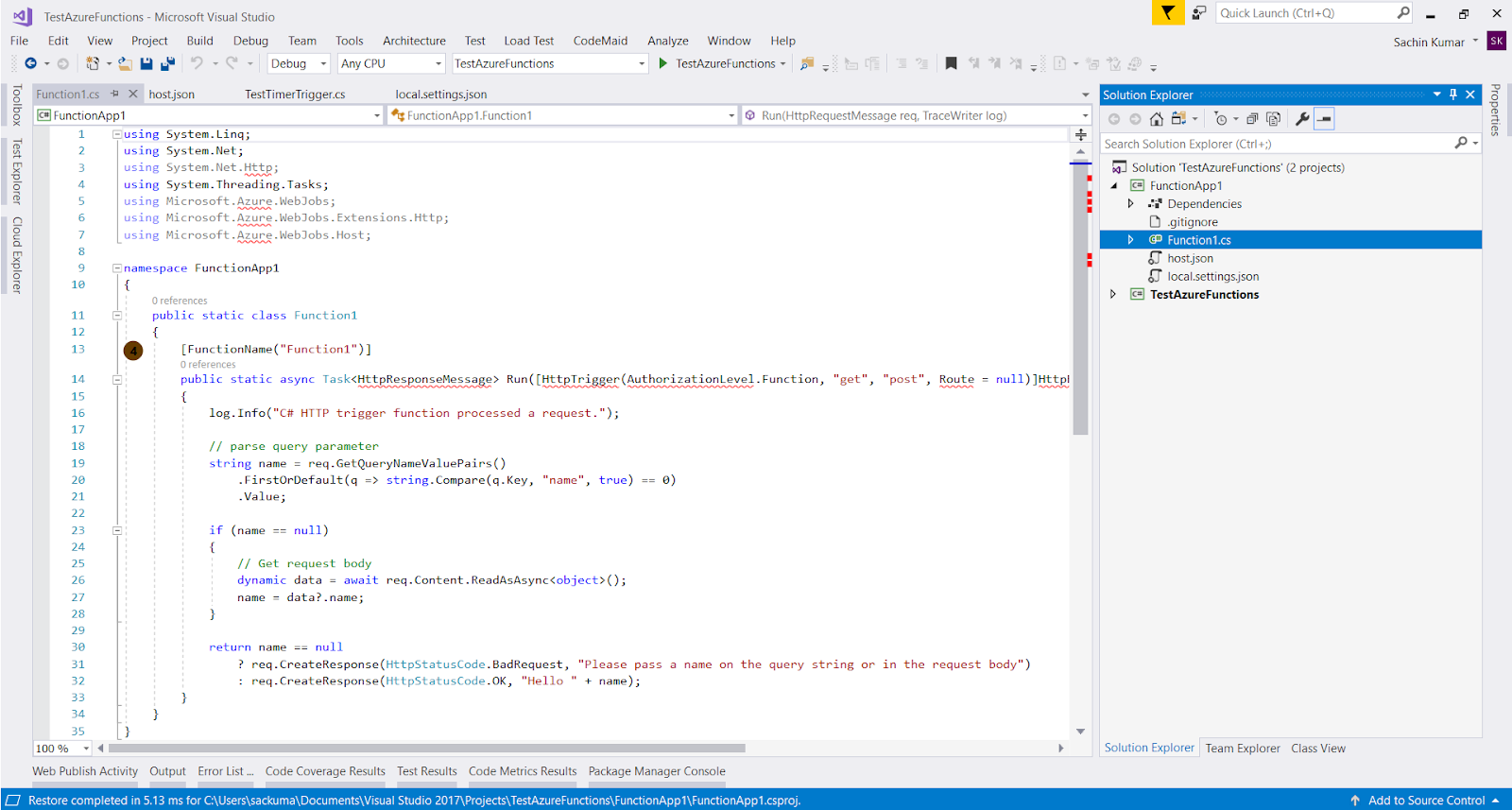 Azure Funda: Handling Concurrency in Azure Functions (HTTP Triggered)