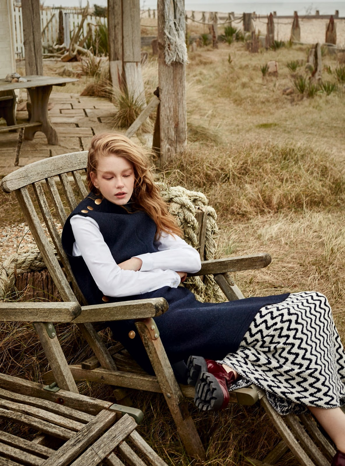 Hollie-May Saker by Agata Pospieszynska for Harper's Bazaar UK July 2016