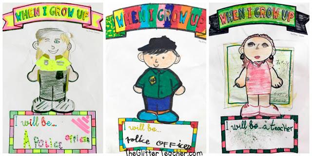Láminas y recortables de los oficios y profesiones para el aula de inglés en educación primaria
