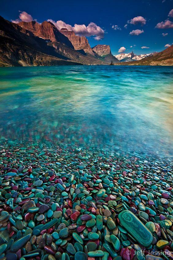 Glacier Stones - St. Mary Lake, Glacier National Park, Montana