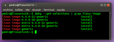 dpkg --get-selections | grep linux-image