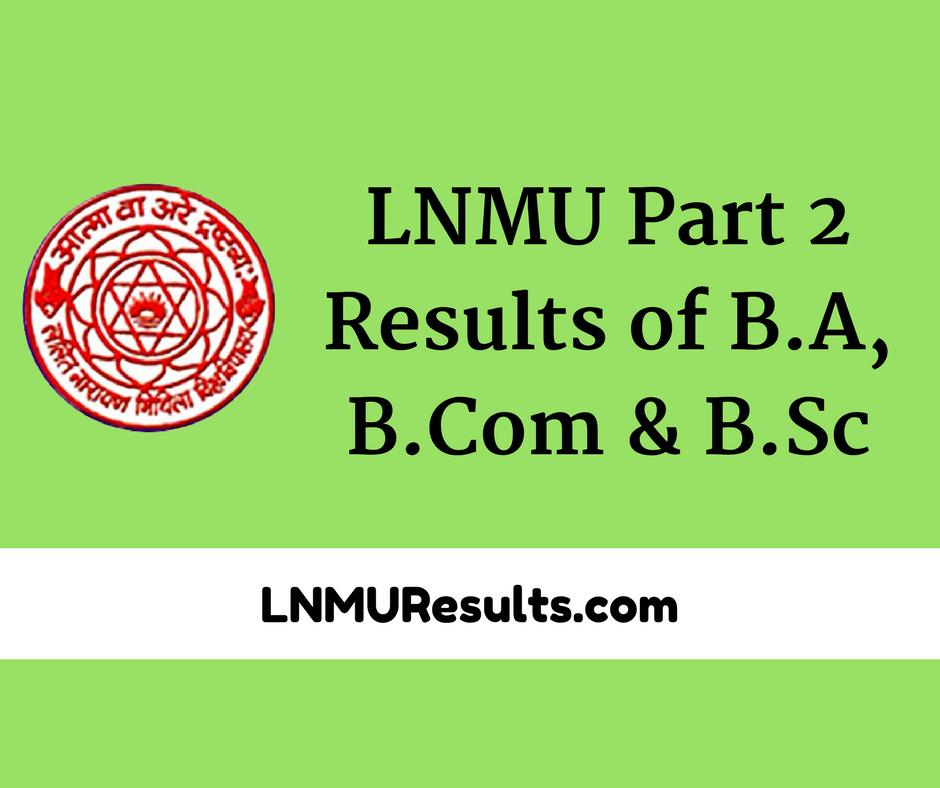 LNMU Part 2 Result 2017