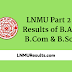 LNMU Part 2 Result of B.A, B.Com, B.Sc 2017 - (Check Here)
