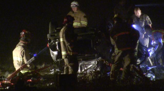 kern county bakersfield car crash rollover highway 99 58 rosedale