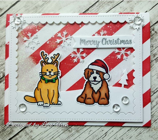 Sunny Studio Stamps: Sunny Saturday Santa's Helpers Customer Card Share by Lori Uren