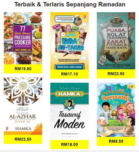 Buku Terbaik Dan Terlaris Sepanjang Ramadhan Di Bookcafe