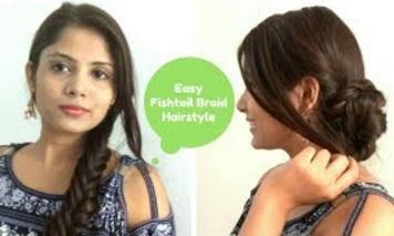 How To: EASY Fishtail Braid Tutorial For Medium Hair | Fishtail Braid Bun Hairstyle