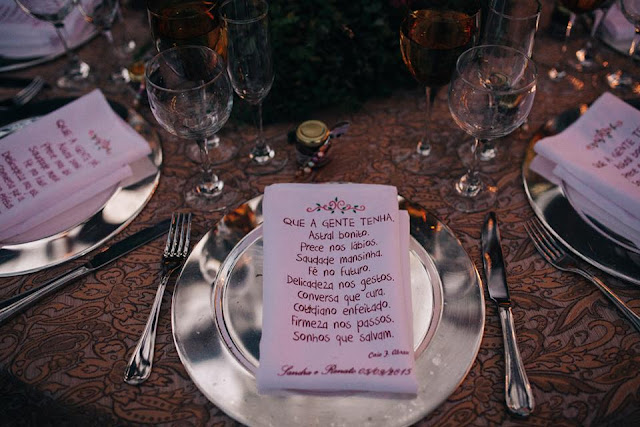 casamento real, sandra e renato, recepção, detalhes, guardanapo