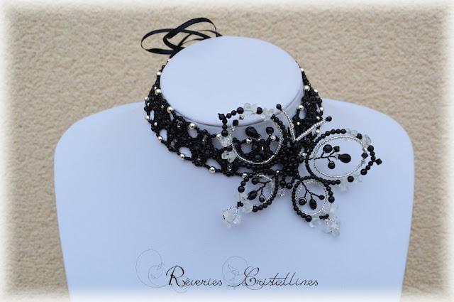 collier bandeau noir