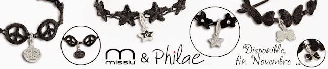Charm's et bracelet haute broderie Missiu  & Philae