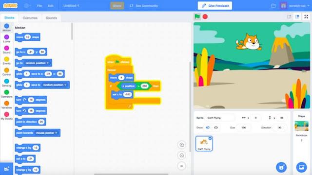 شرح برنامج Scratch للأطفال