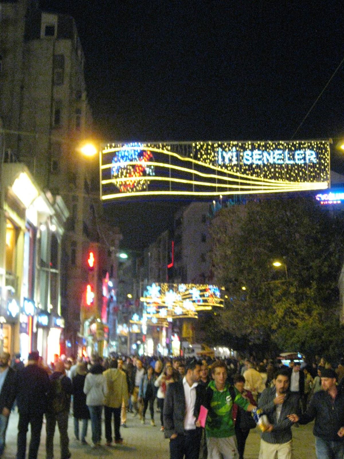 Istanbul - Side street near Taksim Square