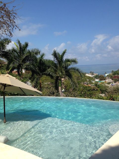 infinity pool in Sayulita Mexico