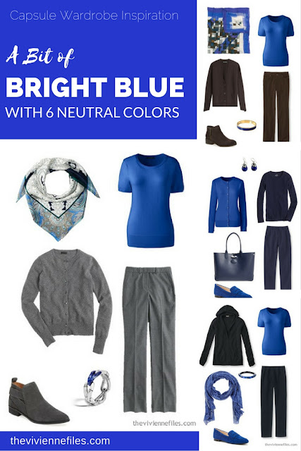 How to wear a bit of bright blue in the capsule wardrobe