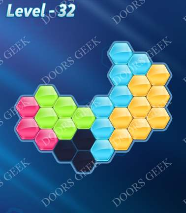 Block! Hexa Puzzle [5 Mania] Level 32 Solution, Cheats, Walkthrough for android, iphone, ipad, ipod