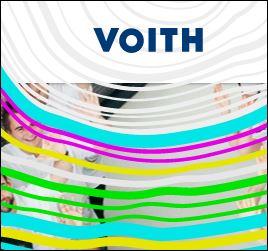 Recorte do logotipo dedicado às celebrações de 150 anos da Voith no mundo