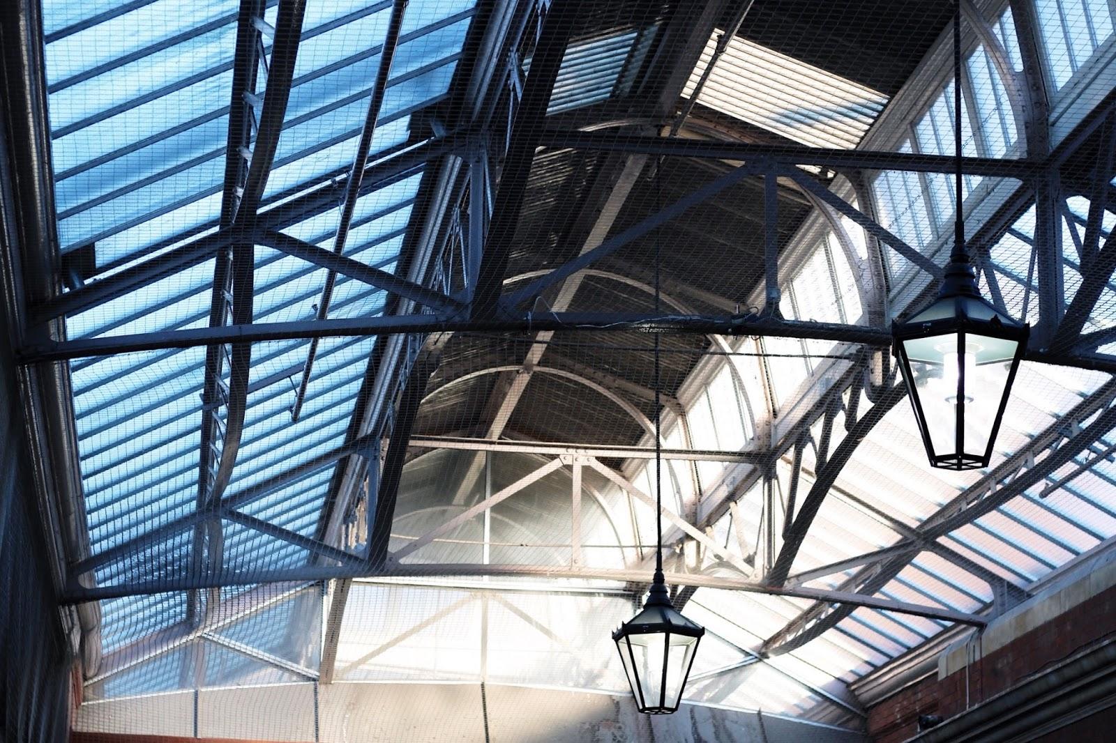 Converted station ceiling in Windsor