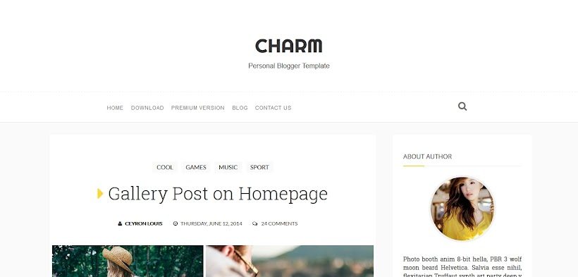 Charm Free Blogger Template