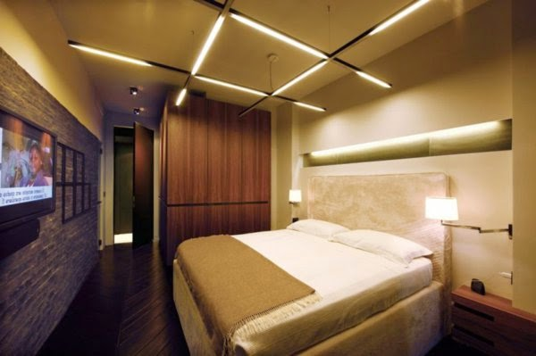 33 cool ideas for led ceiling lights and wall lighting for Wall light fixtures bedroom