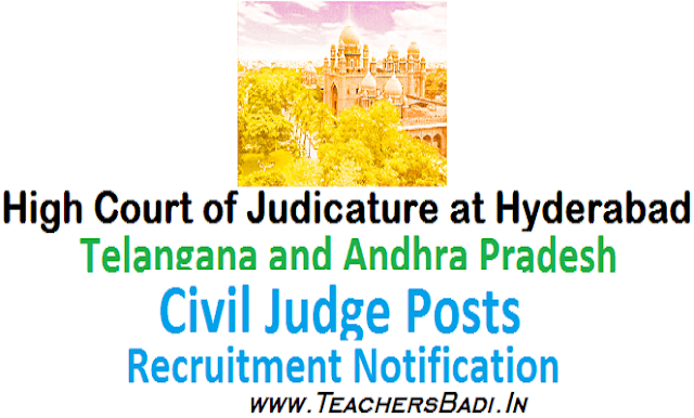 TS AP High Court JCJ posts,Junior Civil Judge Posts,Hall tickets,results