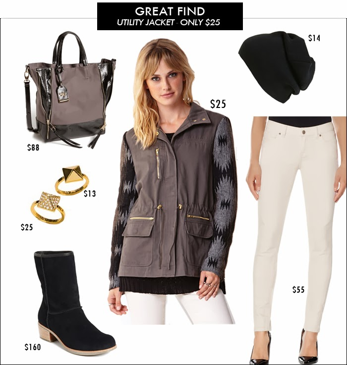 styles for less, pinterest told me to, utility jacket, great deals, forever 21, snow boots, layering, military jacket
