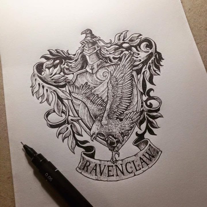 14-Harry-Potter-Ravenclaw-Kerby-Rosanes-Detailed-Moleskine-Doodles-Illustrations-and-Drawings-www-designstack-co
