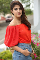 Rhea Chakraborty in Red Crop Top and Denim Shorts Spicy Pics ~  Exclusive 131.JPG