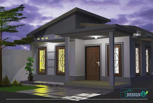 contoh desain rumah 3 dimensi simple, sederhana dan elegan