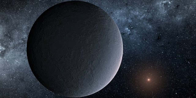 This artist's concept shows OGLE-2016-BLG-1195Lb, a planet discovered through a technique called microlensing. Credits: NASA/JPL-Caltech