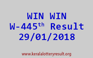 WIN WIN Lottery W 445 Results 29-01-2018