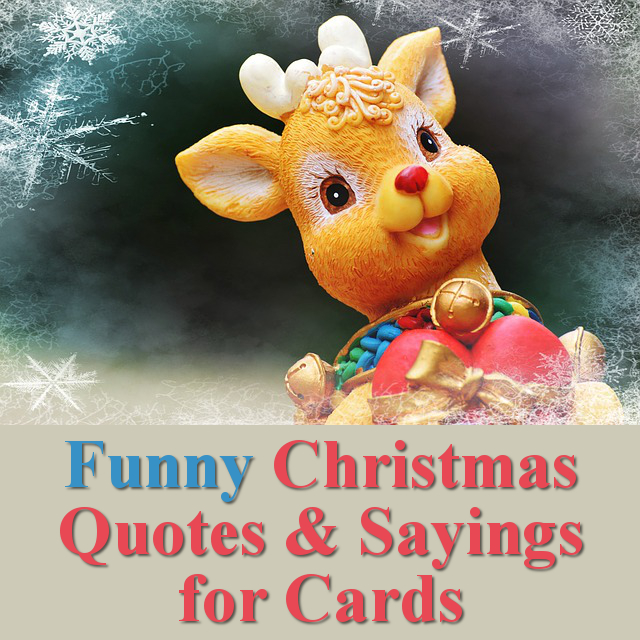 Funny Christmas Quotes Sayings for Cards and Crafts
