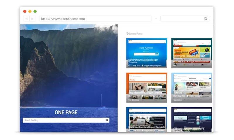 One Page Responsive Blogger Template - Responsive Blogger Template