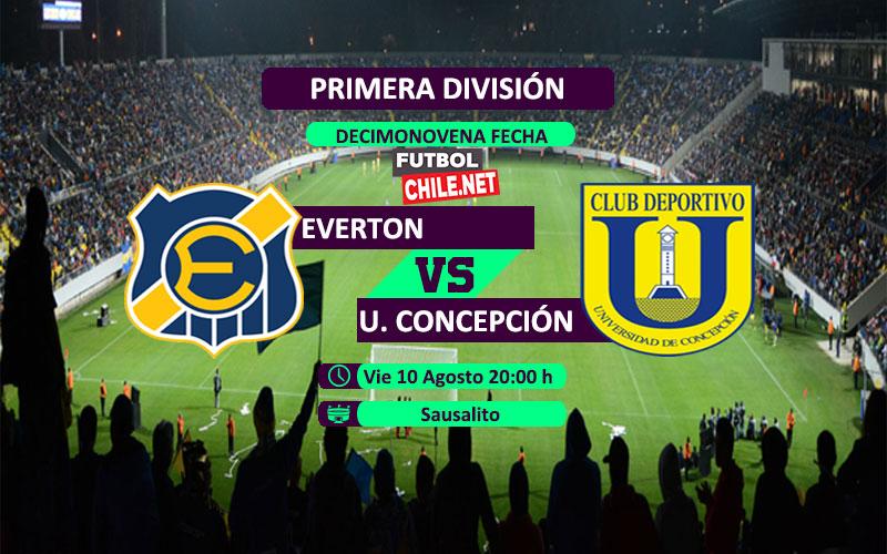 Mira Everton vs Universidad de Concepción en vivo y online por la Primera División de Chile