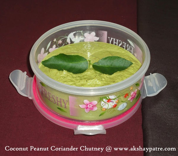Chutney in a container