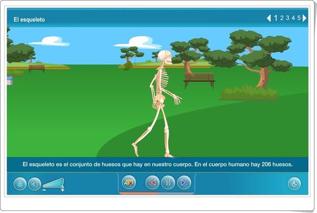 """""""El cuerpo en movimiento"""" (Aplicación interactiva de Ciencias Naturales de Primaria)"""