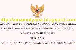 Permenpan RB No 46 [Tahun] 2018 (Tentang) Jabatan Fungsional PENGAWAS ALAT & MESIN PERTANIAN
