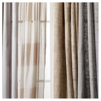 Lined Window Curtains Linen Colored Panels For Liners